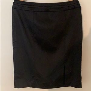 Black pencil skirt with slit